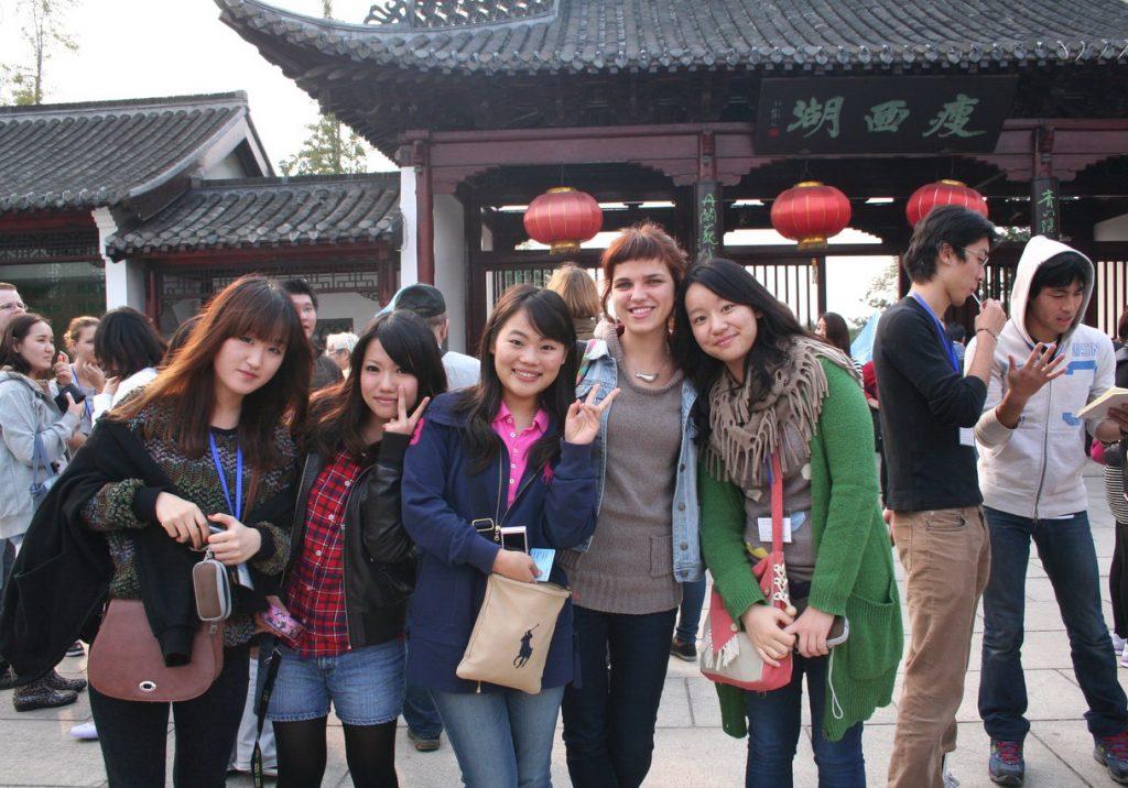 Русская девушка в Китае