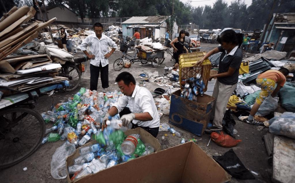 Мусор на улицах в Китае