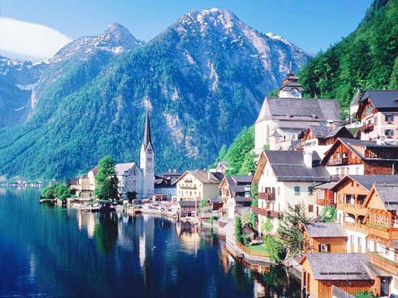 Горный пейзаж Австрии