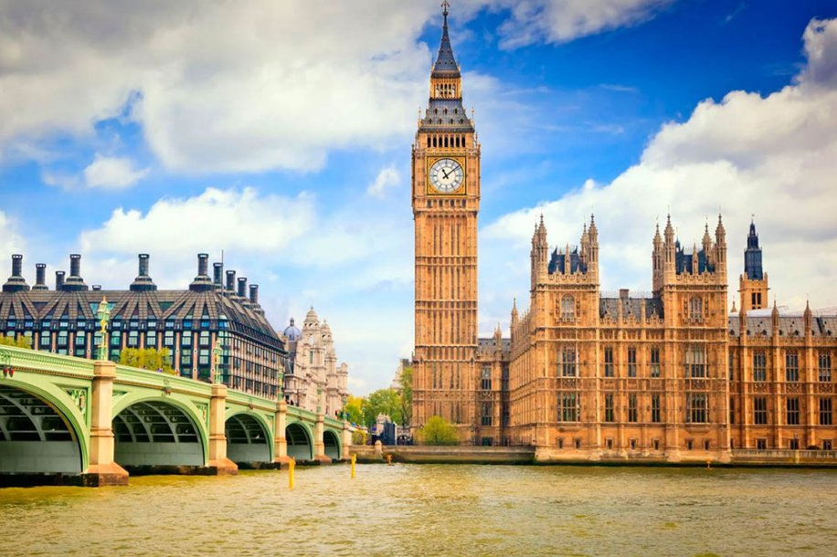 Биг-Бен и Темза в Лондоне