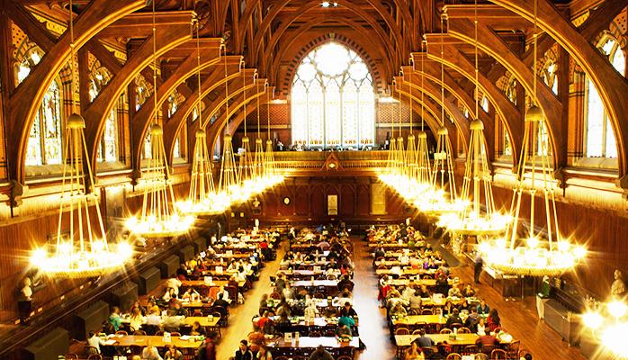 читальный зал Гарвардского университета