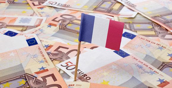 Евро и французский флажок