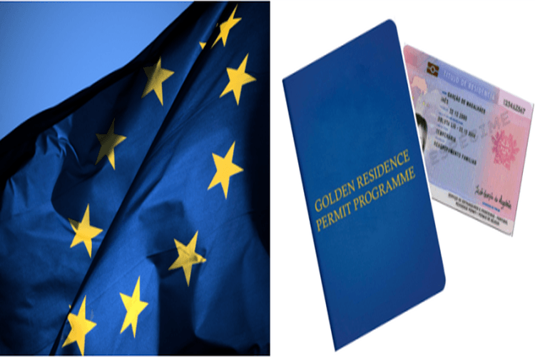 Флаг ЕС и ВНЖ по программе «Golden residence permit programme»