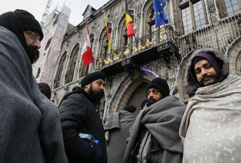Мигранты в Брюсселе