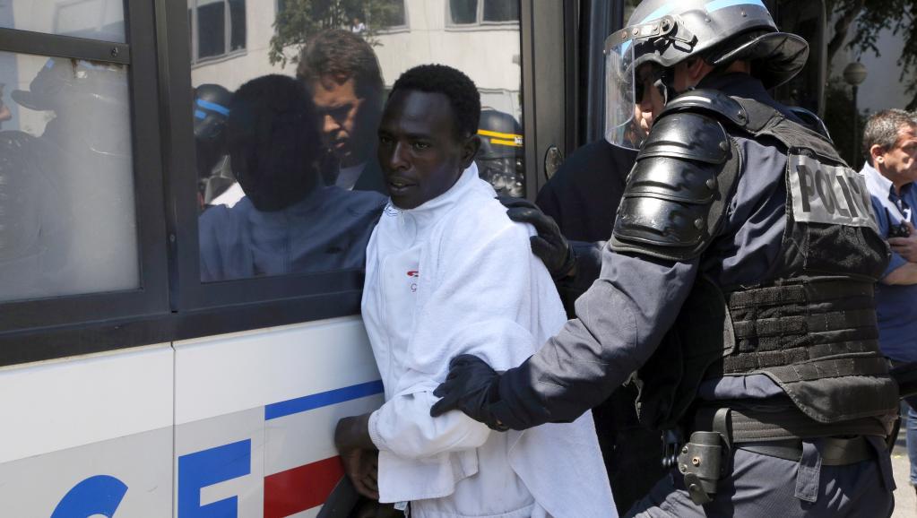 Арест нелегального мигранта