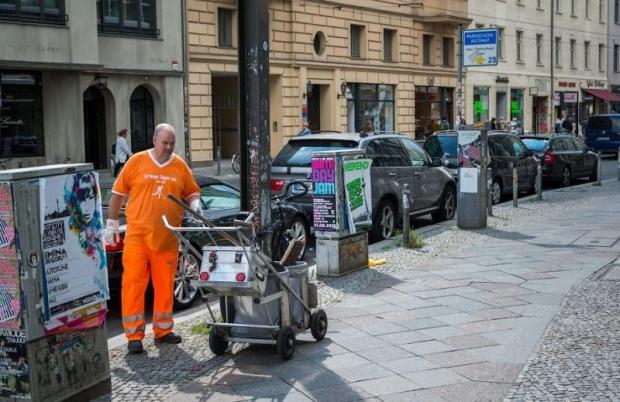Уборщик на улице