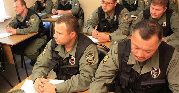 Обучение на курсах охраников