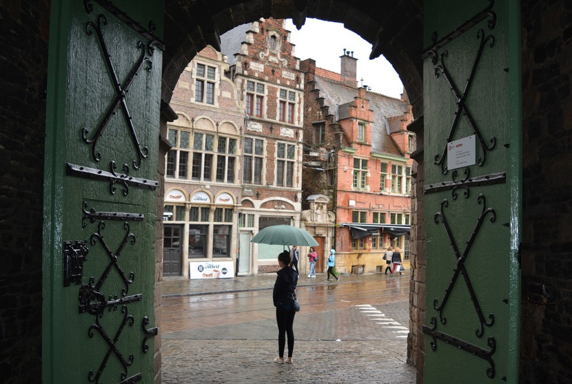 Дождь в Бельгии