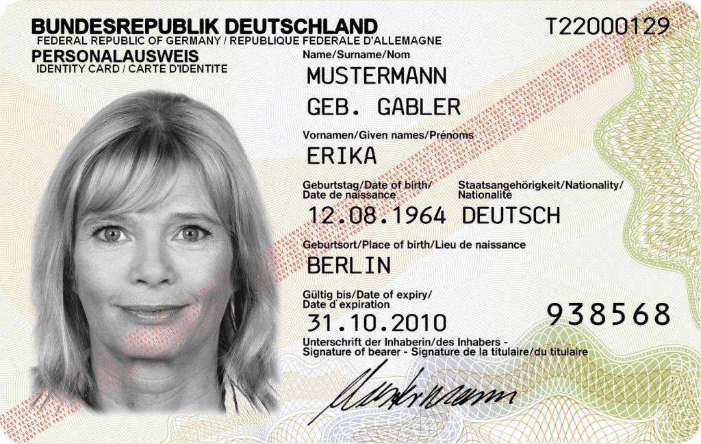 Идентификационная карта гражданина Германии