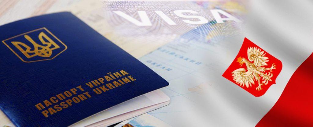 паспорт Украины и флаг Польши