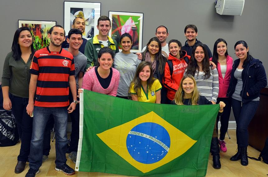 Студенты бразильского вуза