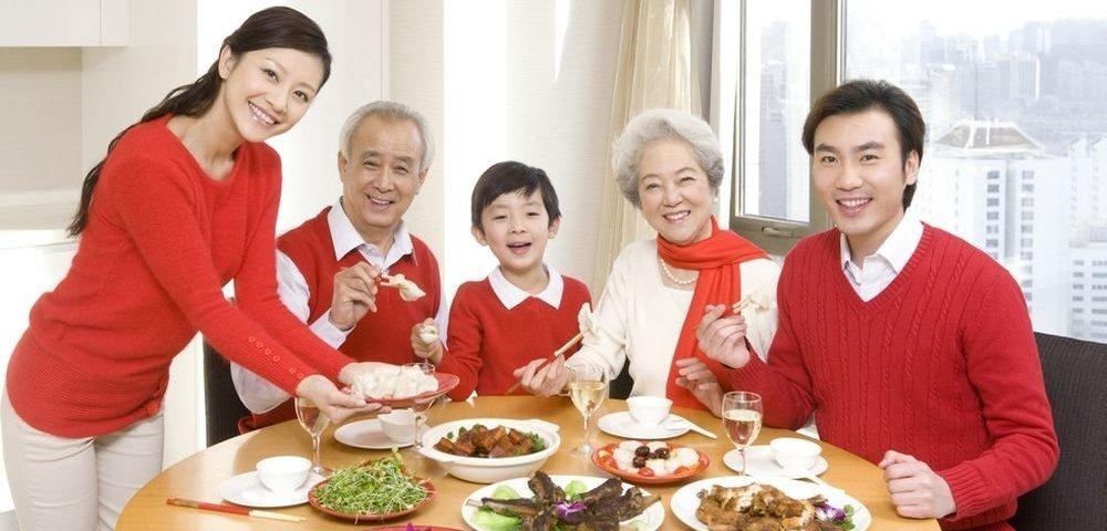 семья китайцев