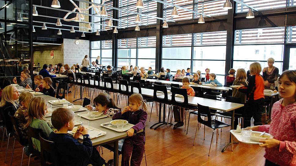 Школьная столовая в Финляндии