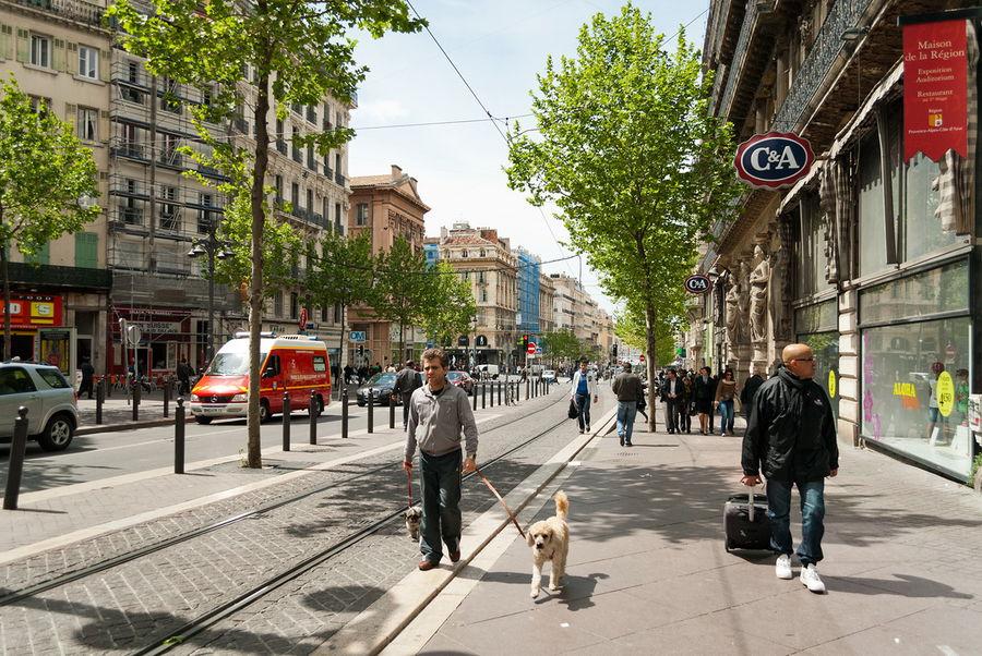 Городская улица во Франции