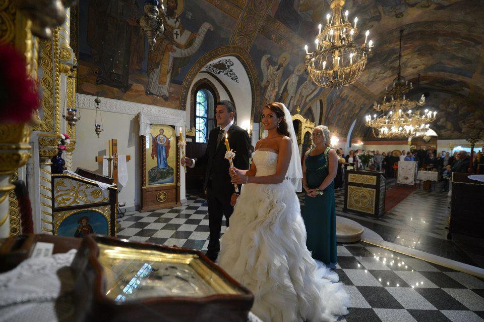 Венчание в сербском храме
