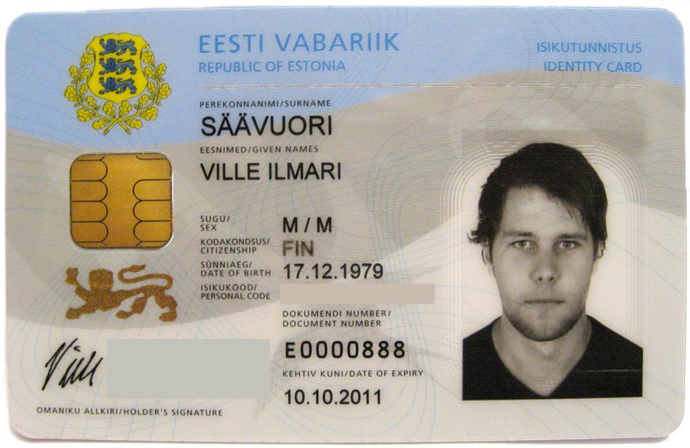Идентификационная карта гражданина Эстонии