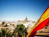 флаг Испании над городом