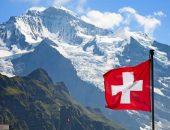 Флаг Швейцарии и горы