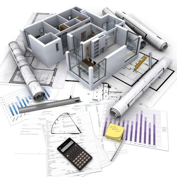План квартиры на столе