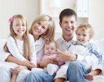 Семья с 3-мя детьми