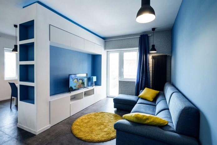 Синяя комната в квартире