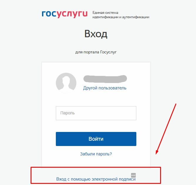 Скриншот со страницы авторизации на портале госуслуг